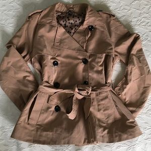 H&M DIVIDED Trench Coat Double Breasted Jacket 8